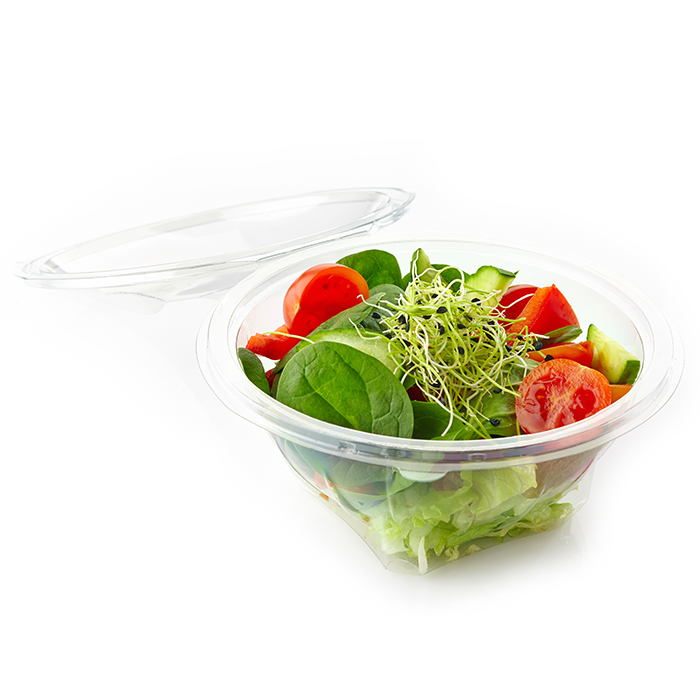 Clear Plastic Container of Vegetable Salad Food Service Packaging