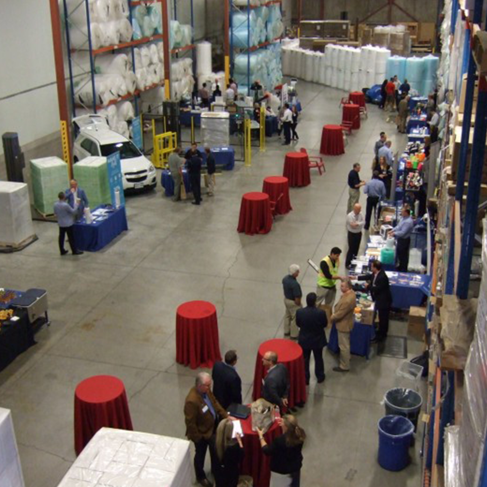 View of Warehouse Floor at the Annual Packaging Performance Expo in Brampton, Ontario