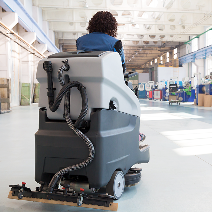 Dustbane Floor Cleaner Scrubber Machine Cleaning Warehouse Floor
