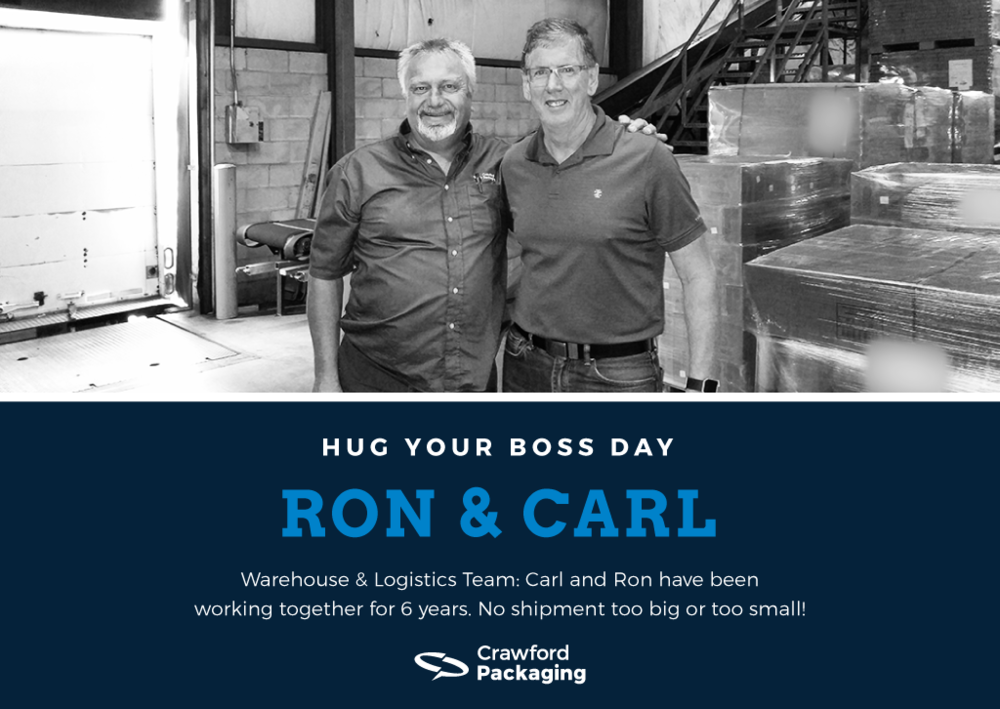 Ron and Carl - Hug Your Boss Day