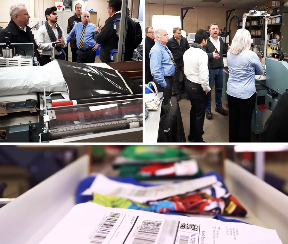 Crawford Packaging Sales Force Visits Sealed Air Testing Facility