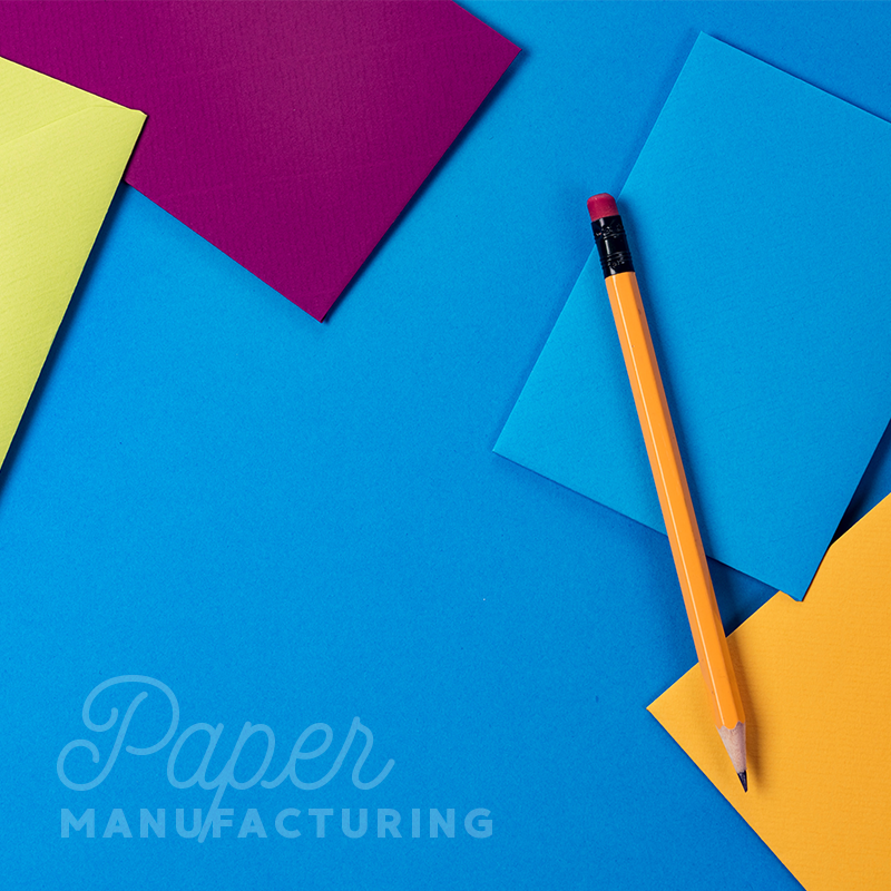 blue yellow and red coloured paper