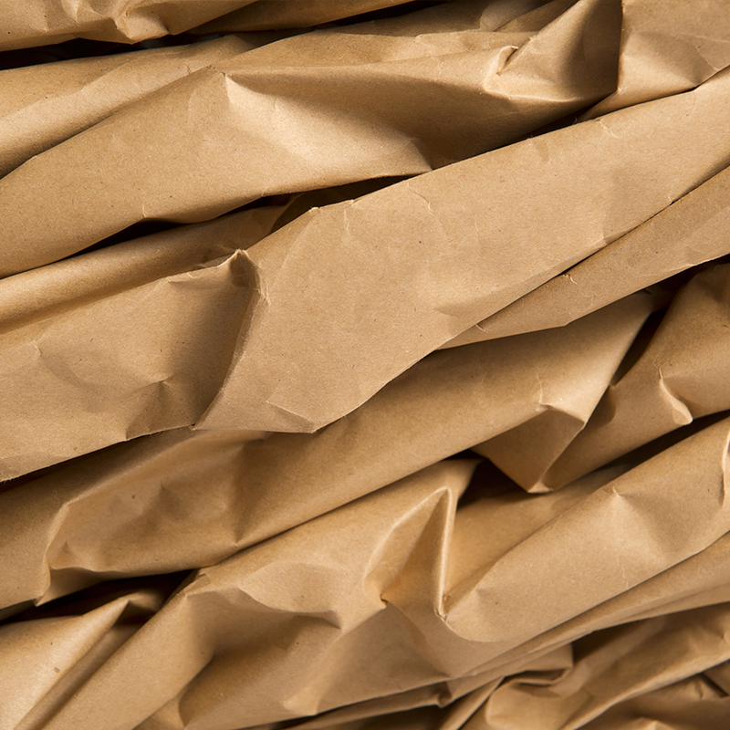 photo of kraft paper packaging close up