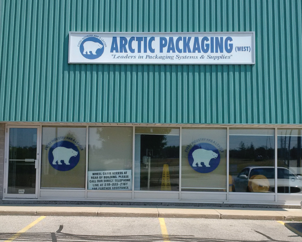 exterior photo of arctic packaging waterloo before converting to crawford packaging