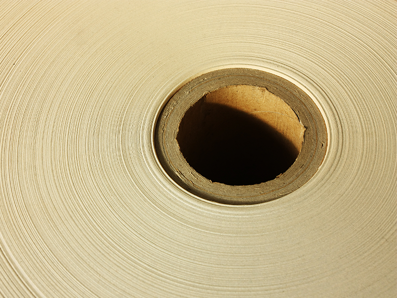close up of a roll of vci packaging