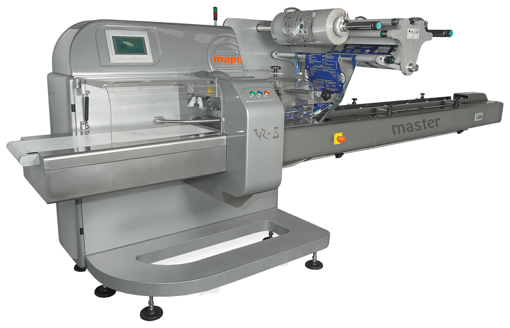 rgd mape vr-8 master flow wrapper machine on white background
