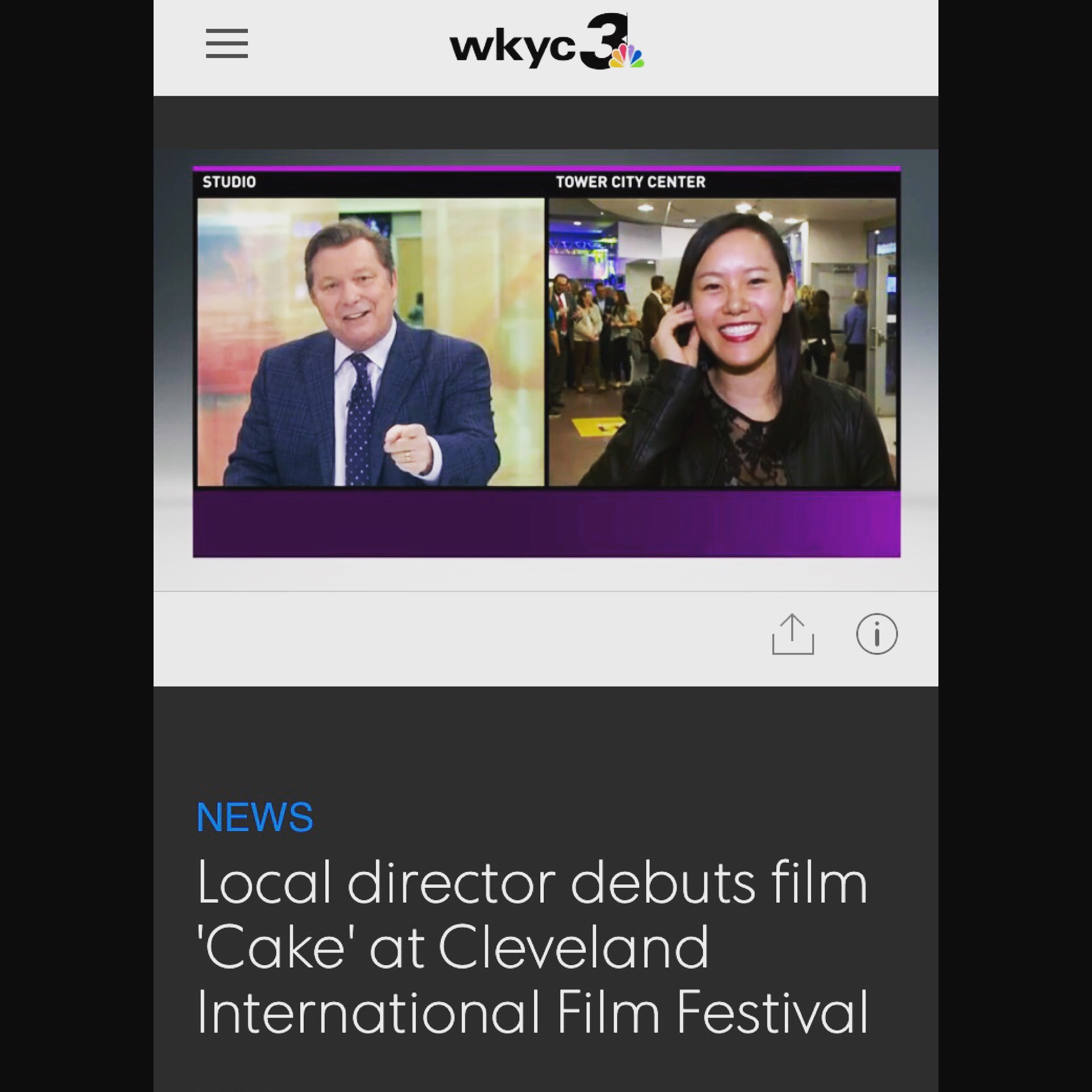 Director Anne Hu Goes Live with Cleveland Local News WKYC Channel 3