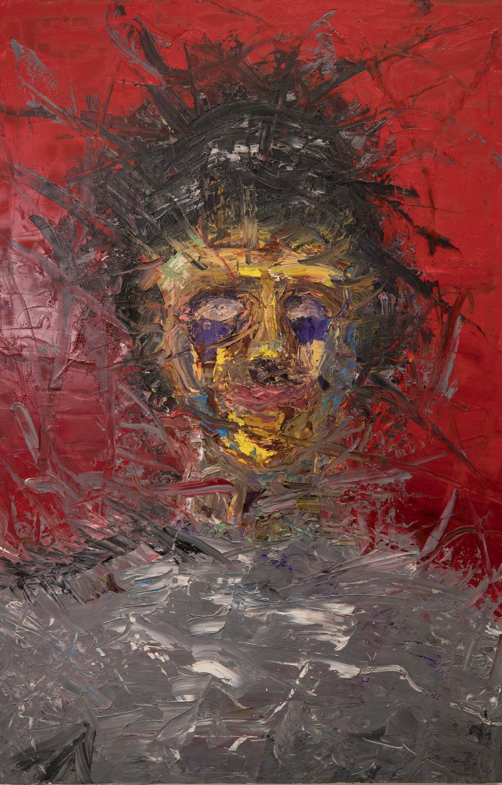 "Self Portrait,Oil on Canvas, 42"" x 24"", 2016"
