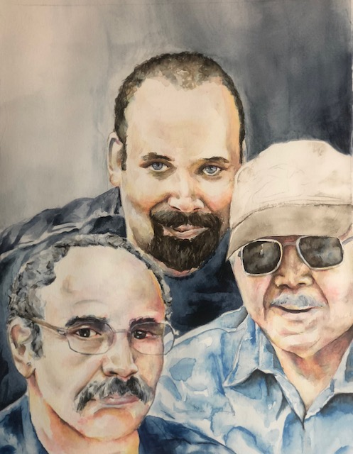 Three Generations Watercolor 11x14