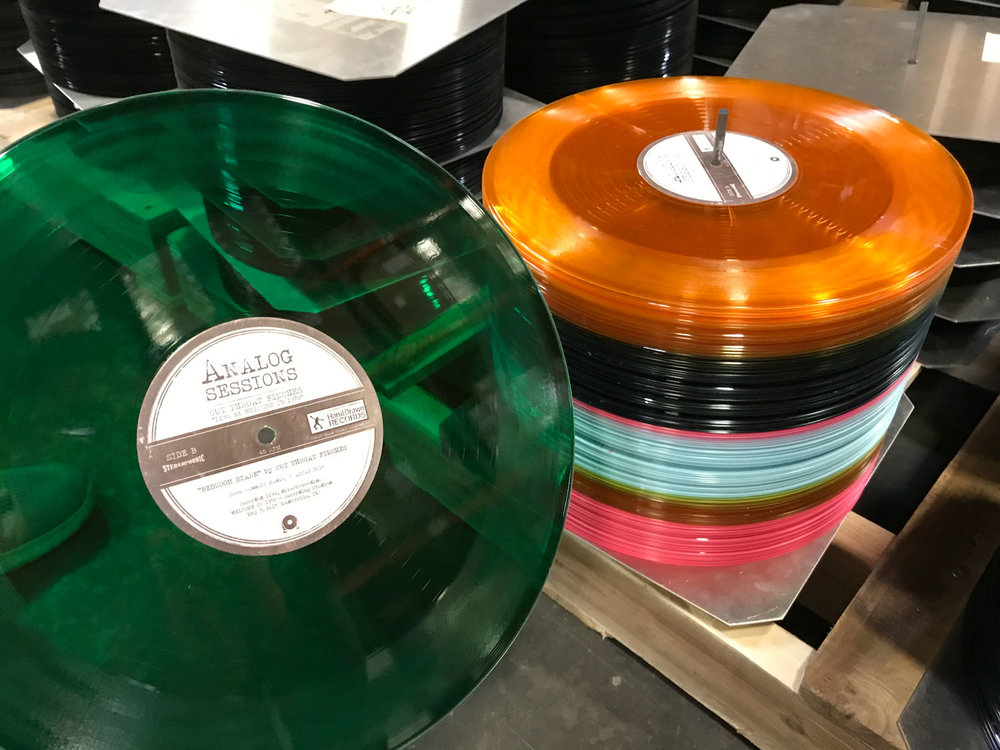 Pressed at Hand Drawn Pressing USA: Random Color Vinyl :: Each record is unique!