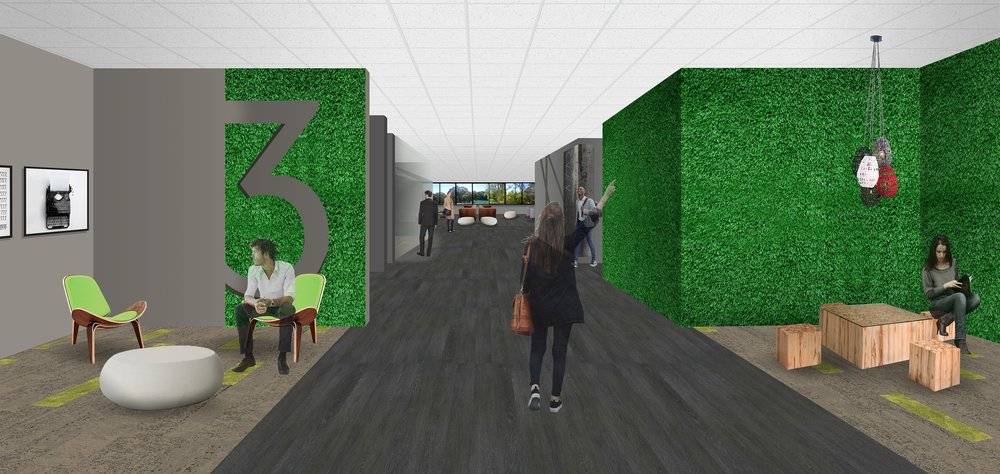 Coming soon: 2nd and 3rd level elevator lobby renovations