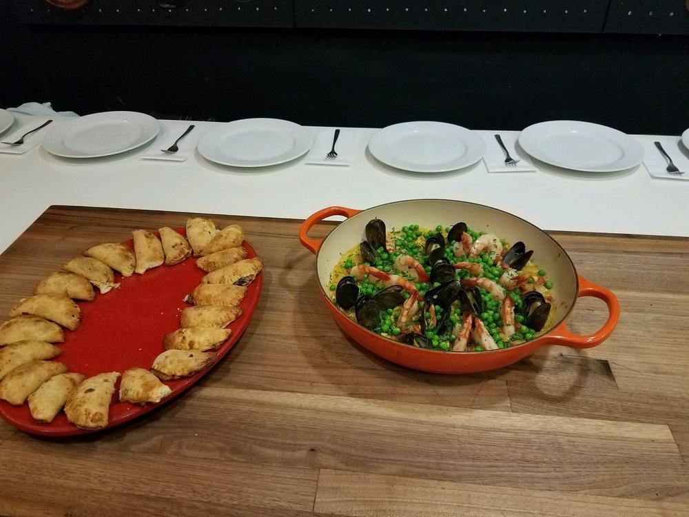 Black Bean & Cilantro Empanadas              Mussel & Shrimp Paella