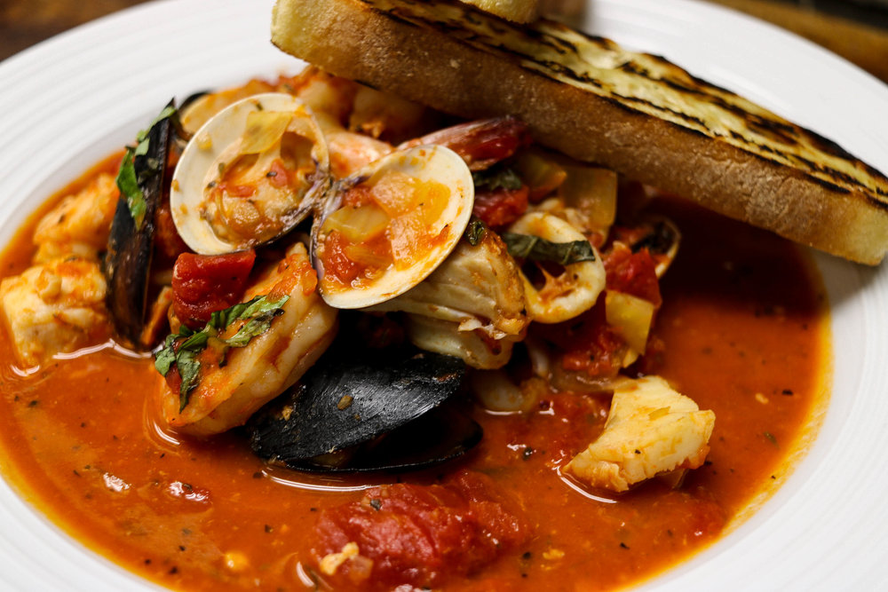 Seafood Cioppino:  One of my favorite dishes!  The flavors coming through in the sauce were spot on!