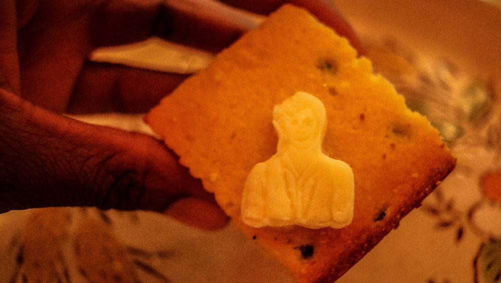 Have Mercy Cornbread with John Stamos butter! I laughed every time that I glanced at this!!!
