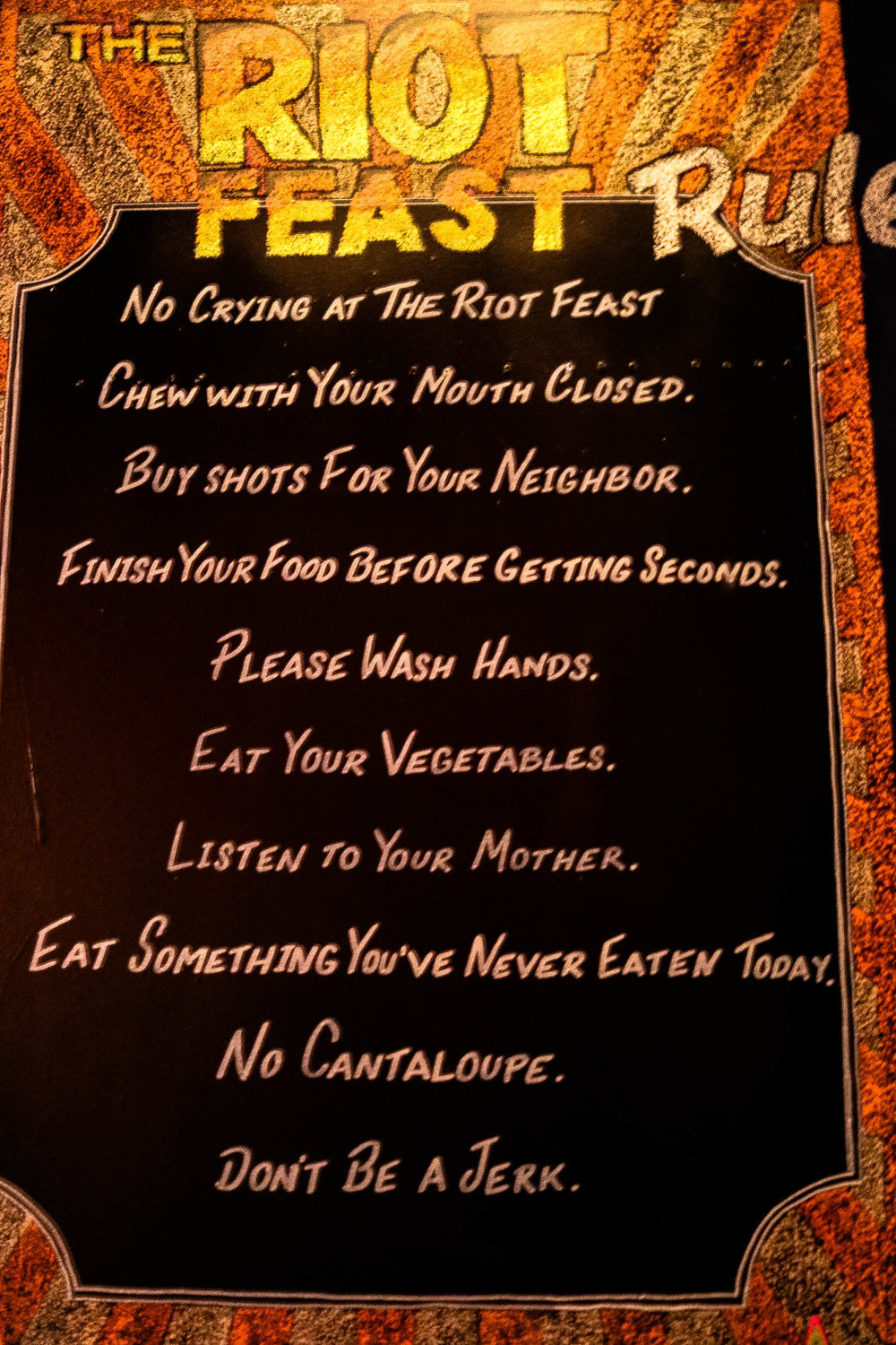 I'd say these are solid rules