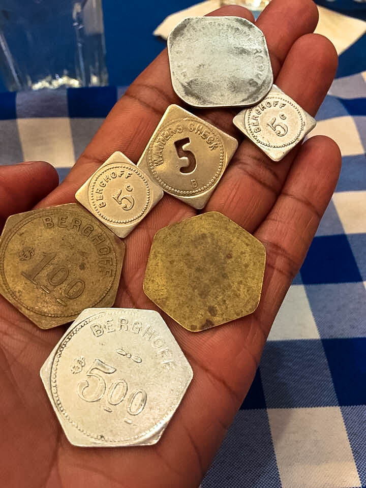 Until 1980, Berghoff waiters operated on the Old German system of coins.