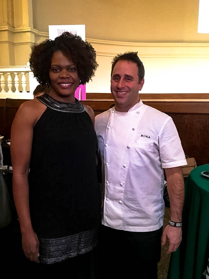 Me and Boka Executive Chef Lee Wolen