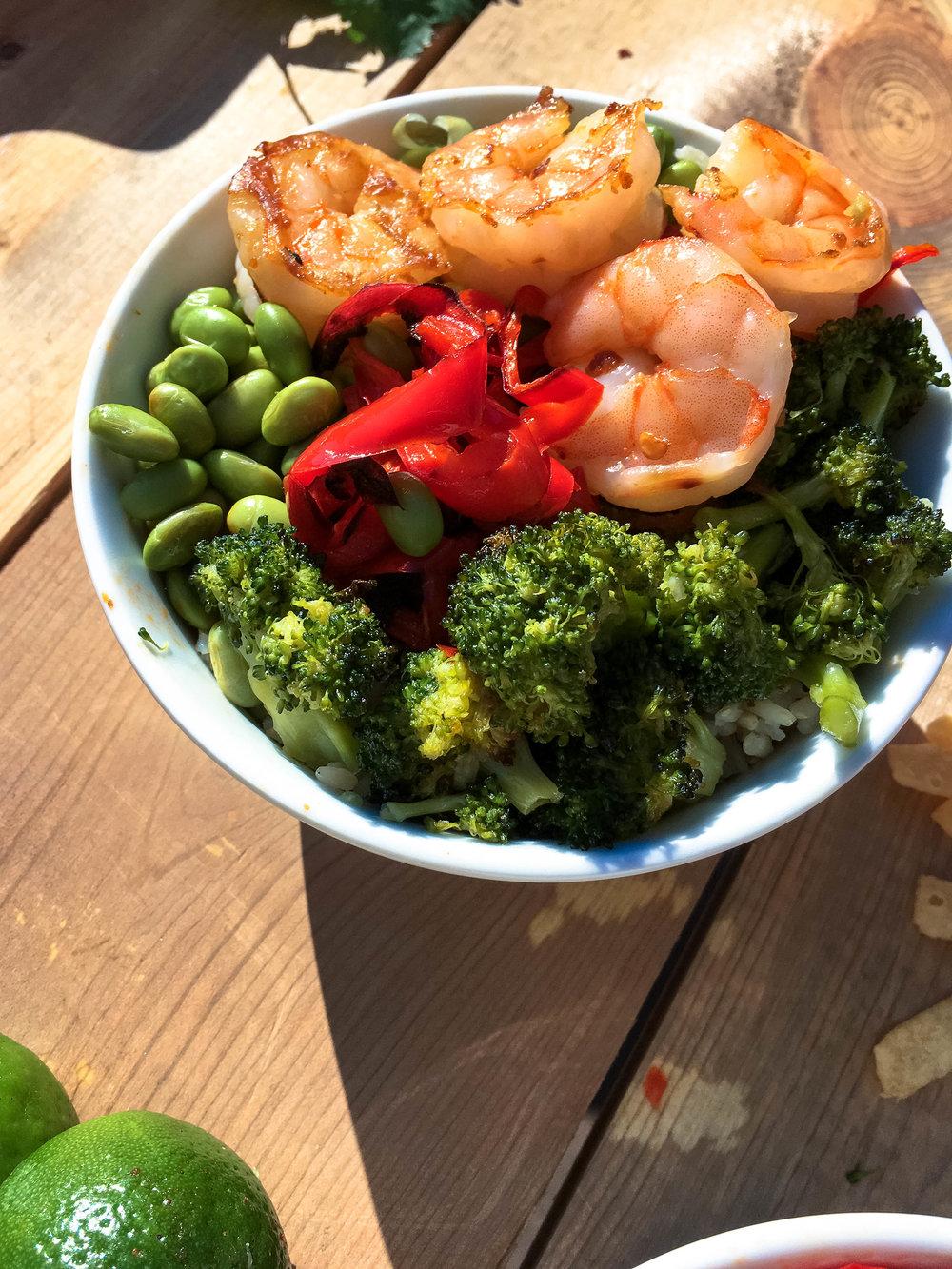Shrimp Protein Bowls
