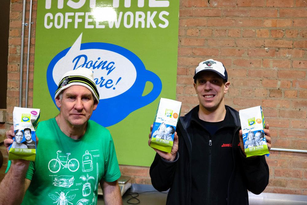 My team members Bruce (left) and Dan