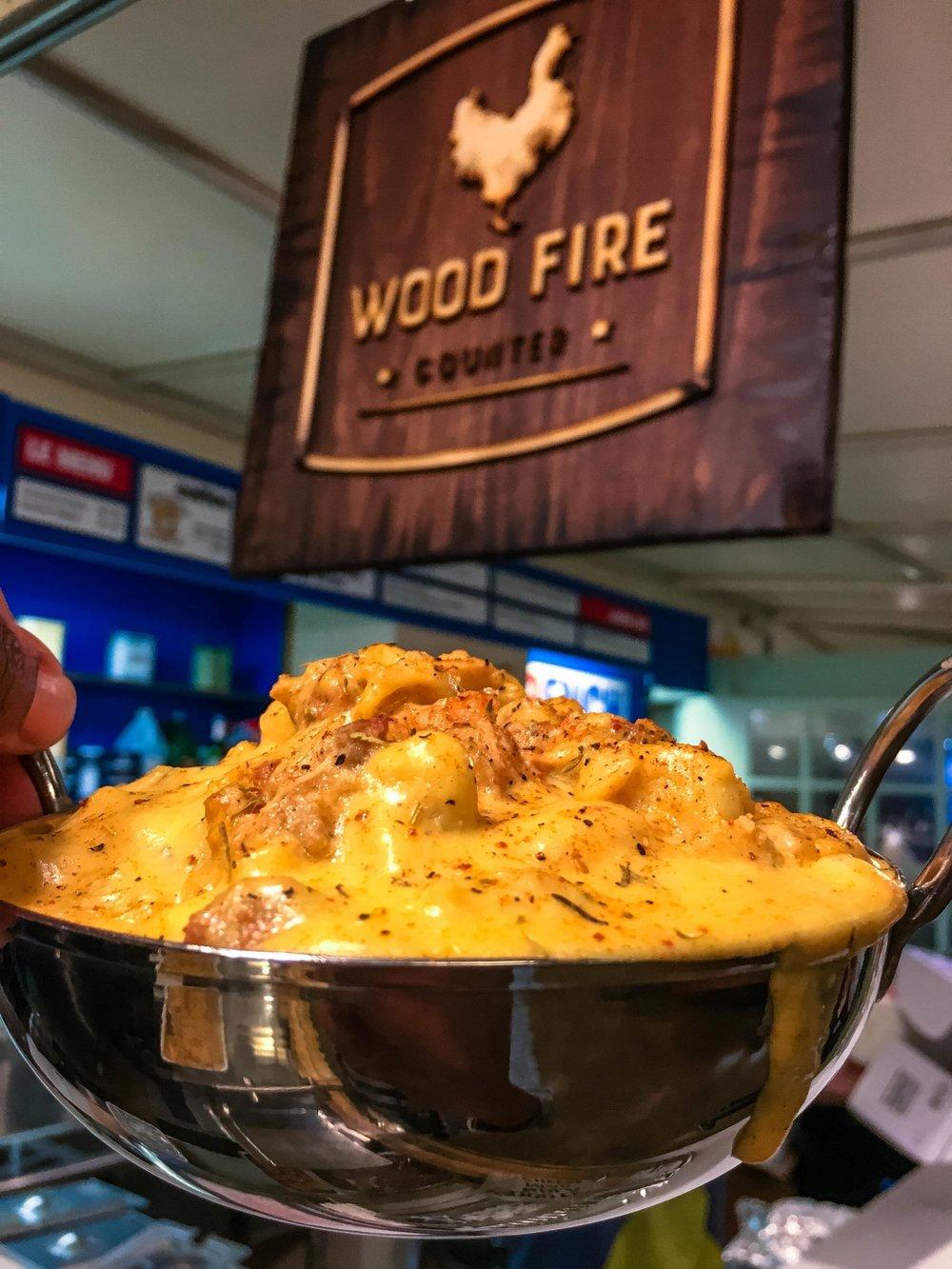 Wood Fire Counter's Gumbo Mac N Cheese