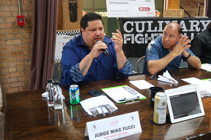 Judges Mike Fucci and Mark Nureddine