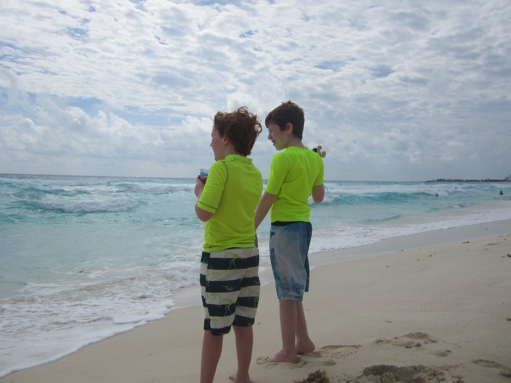 My boys on the beach!