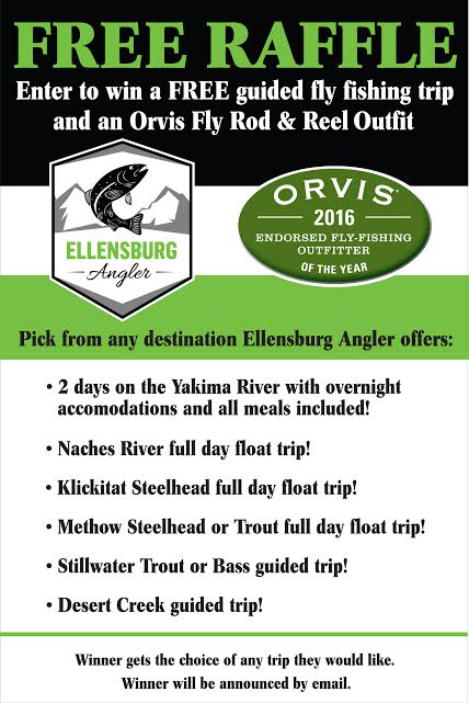 Ellensburg Angler Free Raffle Guided Trip & Rod and reel giveaway!