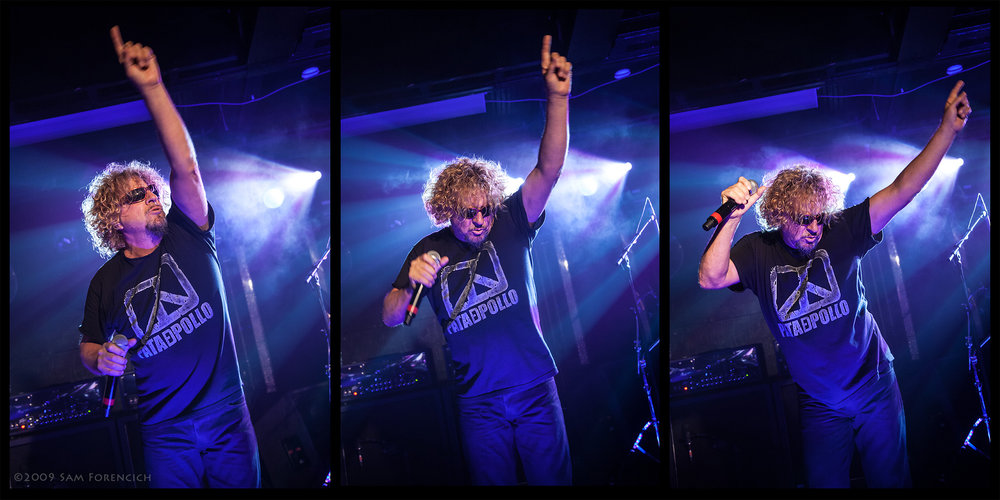 May 2009, Seattle, Washington - Sammy Hagar performs with Chickenfoot at El Corazon - 2009 Road Test Tour  ©2009 Sam Forencich
