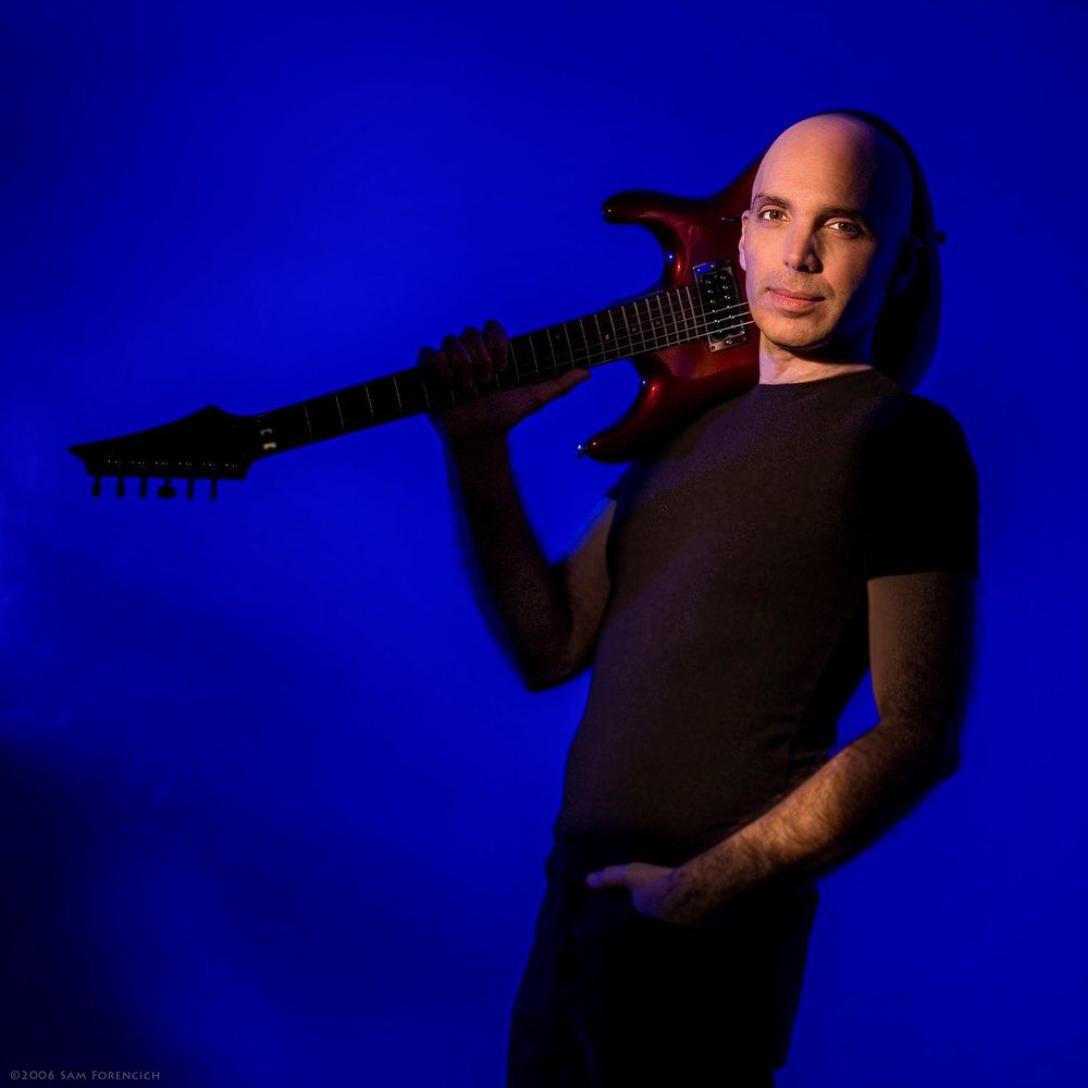 May 2009, Portland, Oregon - Backstage portrait of Joe Satriani at the Roseland Theater - 2006 Super Colossal Tour  ©2006 Sam Forencich