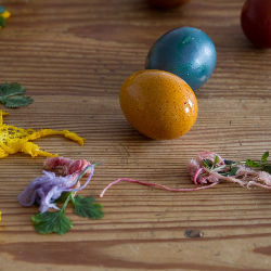 Jewel toned Easter eggs, naturally