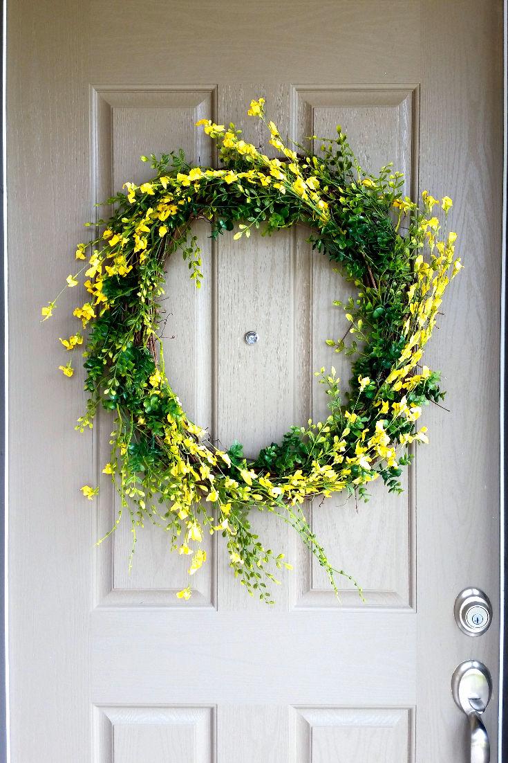 Simple DIY Spring Wreath