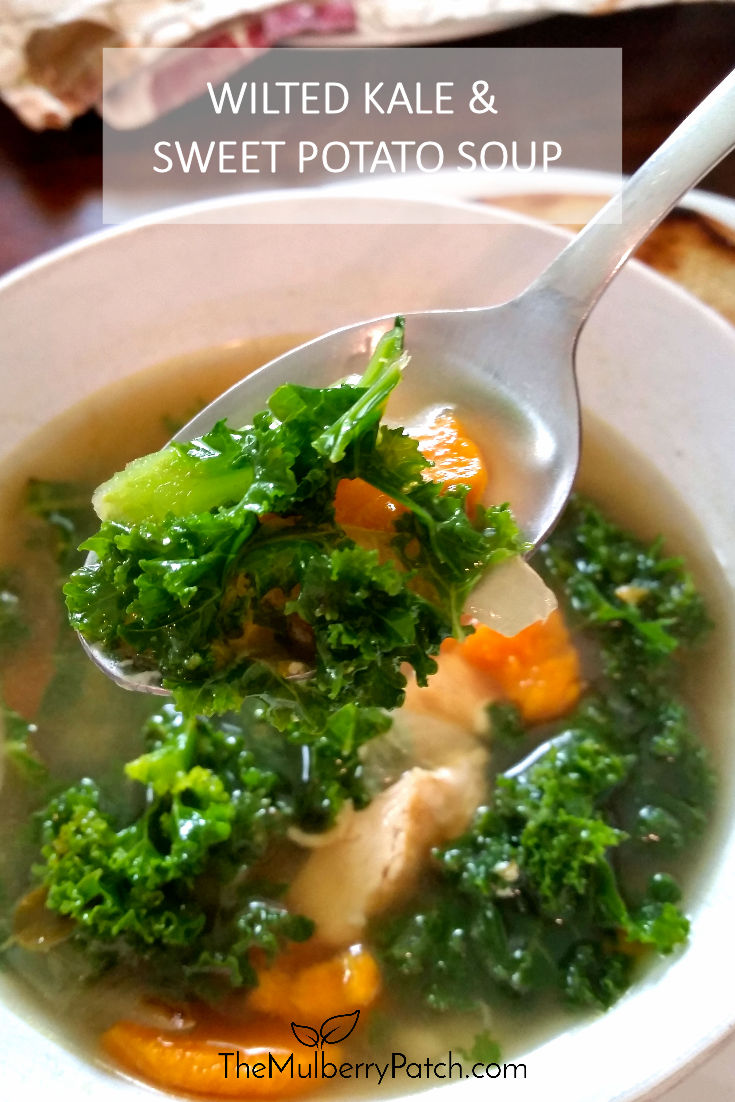 Wilted Kale and Sweet Potato Soup