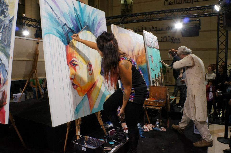 Live Painting on Canvas