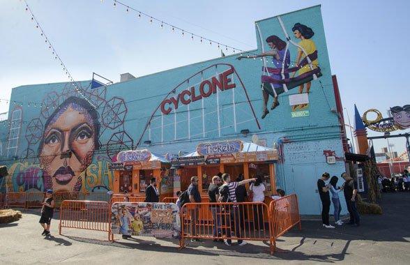 Mural at Coney Island, 2016
