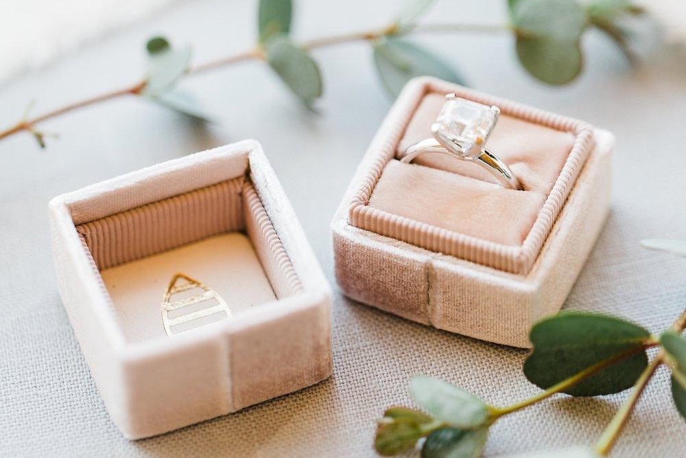 wedding ring engagement ring wedding photography greenery