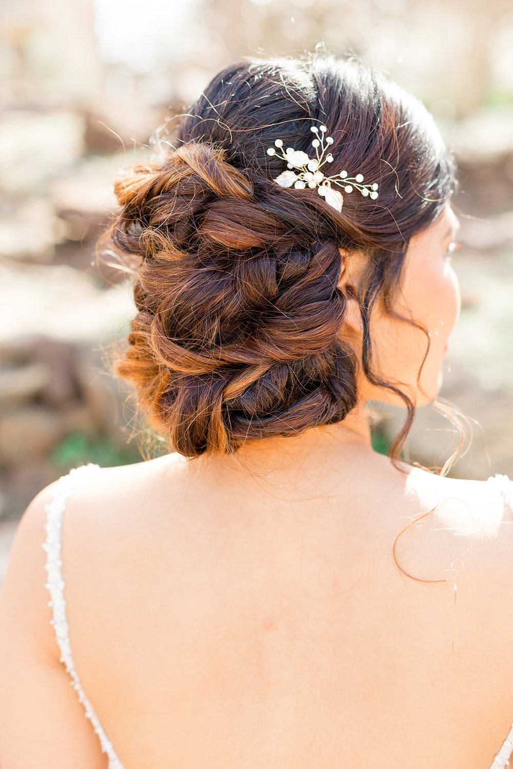 hair comb wedding hairstyle updo