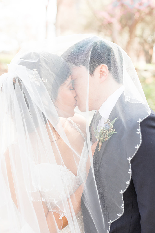 wedding photography under the veil
