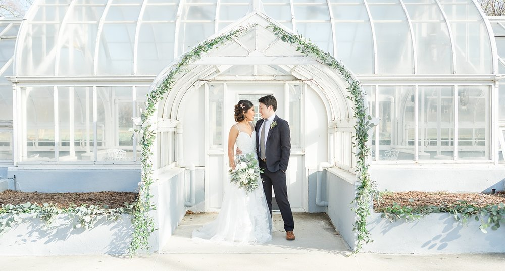 wedding photography arch greenery