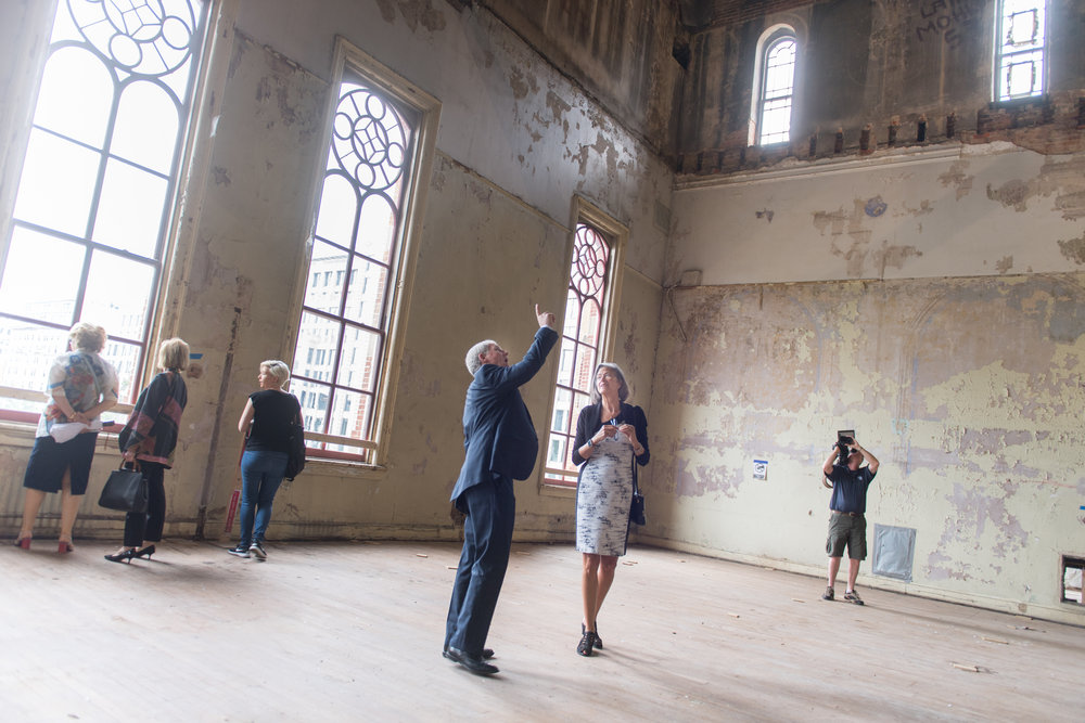 The Great Hall awaits rehabilitation.