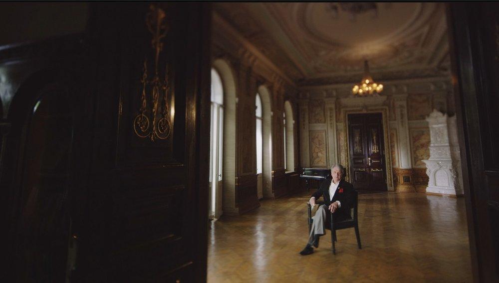 Former Ukrainian president Viktor Yushchenko in a wonderfully quiet presidential palace in Kiev.