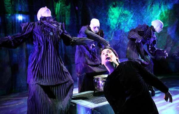 Witch 1, Macbeth , City Lit (Photo by  Michael Brosilow )