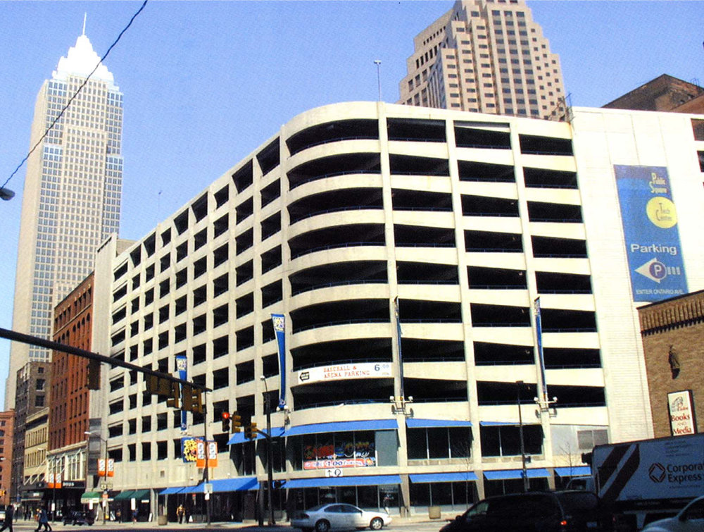 Cleveland Public Square Garage    COMMERCIAL USE - Cleveland, OH    500+ Space, 11-story Parking Garage