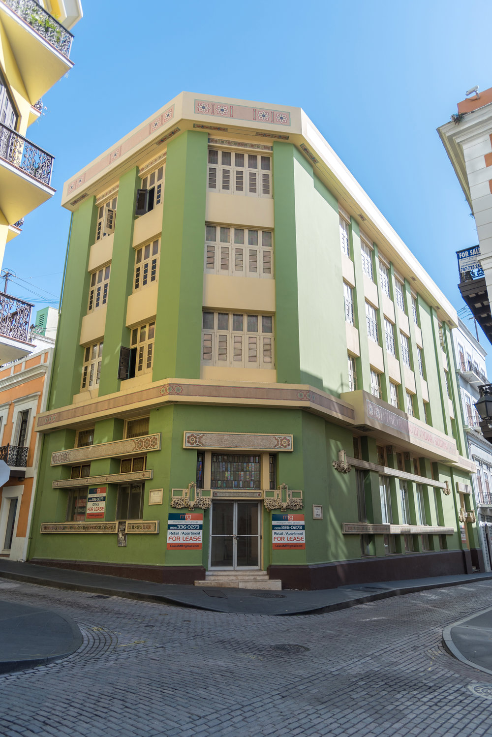 SCOTIABANK BUILDING    RETAIL/RESIDENTIAL CONVERSION - Old San Juan, Puerto Rico    Historic Scotiabank building located in Old San Juan