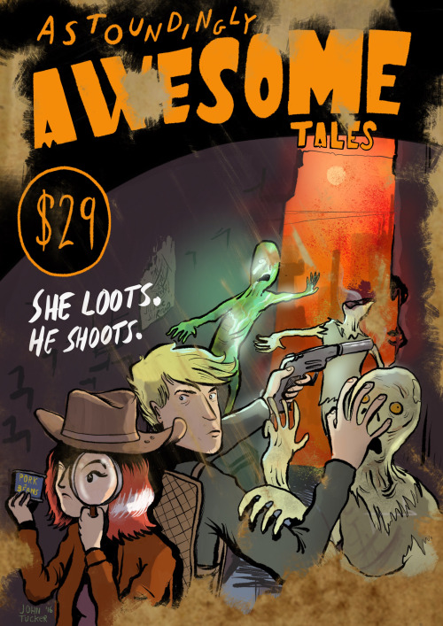 Astoundingly Awesome Tales (2016), Fallout-inspired magazine cover