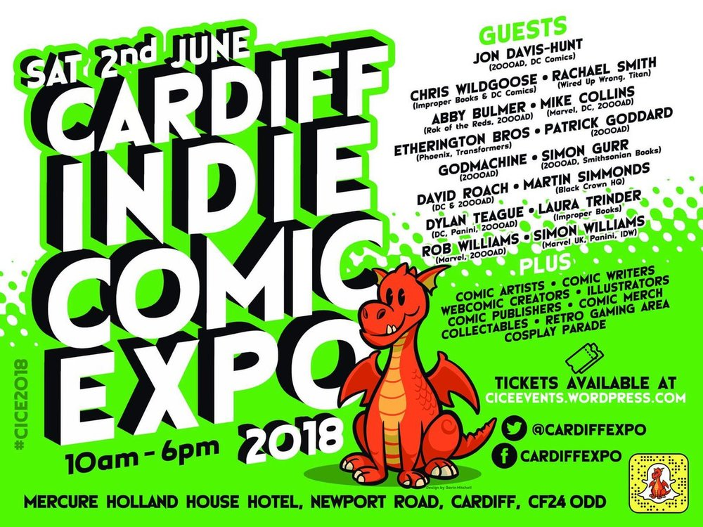 Cardiff Independent Comic Expo 2018's poster.