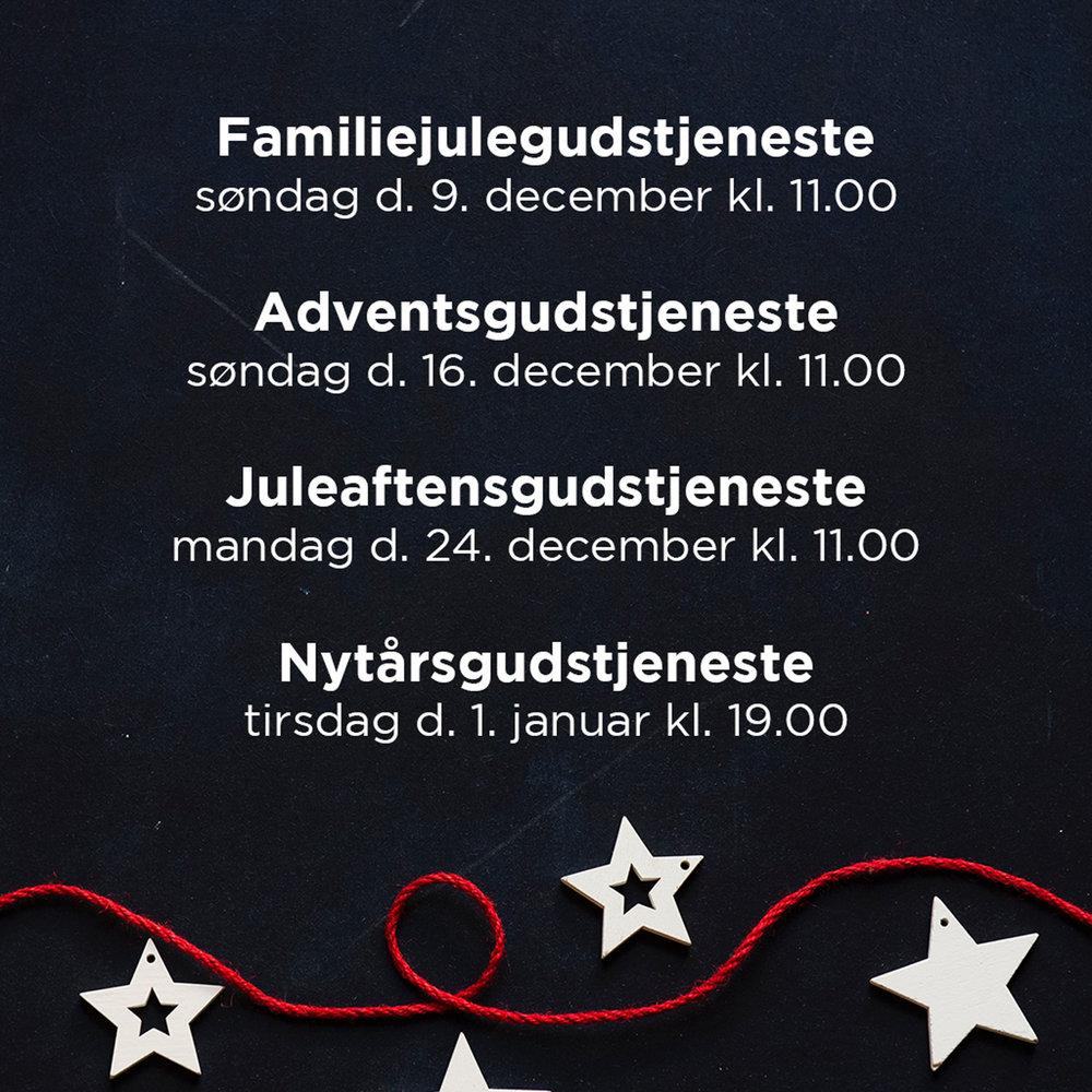 Jul og nytår i Københavnerkirken - Vi glæder os til at fejre julen og nytåret sammen med jer!