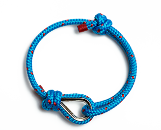 SHKERTIK BRACELET ECHO - $19.99 Desirable extravertism and intense intuition. Crystal-clear sky and turquoise sea – that's what we call creative idealism. Handmade in Lithuania.