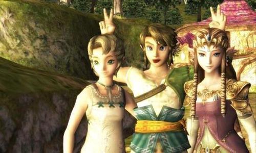 "#selfies with Ilia, Link and Zelda in ""Twilight Princess."" (Fan Art)"