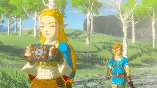 Zelda with her tablet.