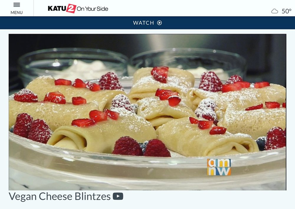 For the detailed vegan cheese blintzes recipe, ,  click here .